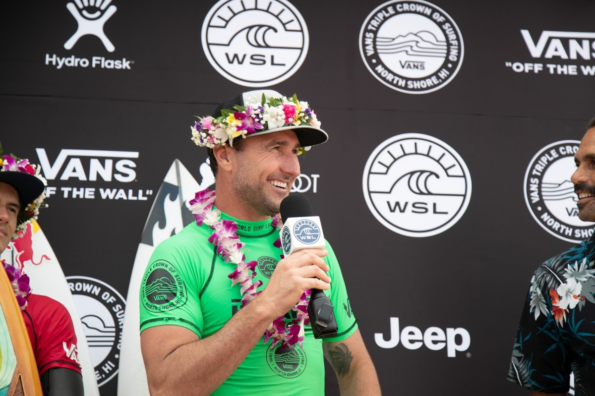 2018 Hawaiian Pro winner Joel Parkinson.   © WSL / Heff