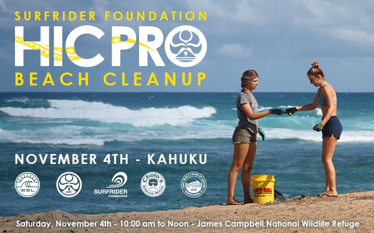 Surfrider Foundation HIC Pro Beach Cleanup - James Campbell Wildlife Refuge, Kahuku, Oahu