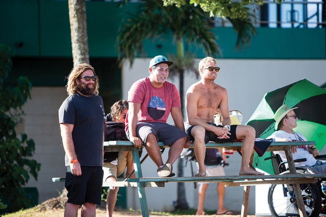 Team captains and coaches watch the contest   © WSL / Heff