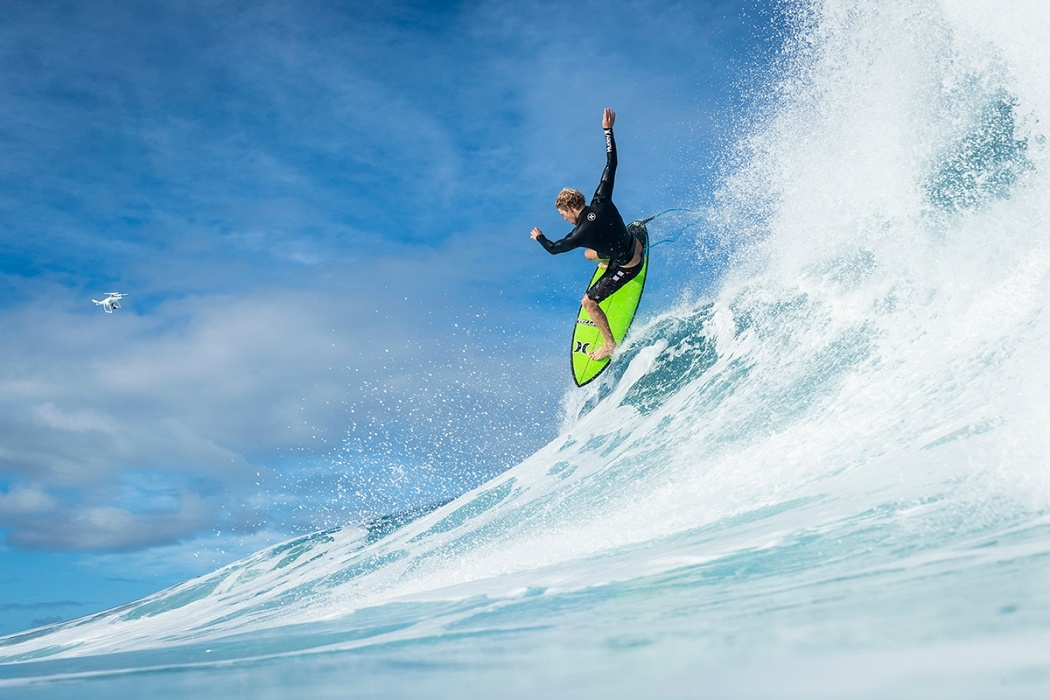 John John Florence at home.   © WSL / Poullenot