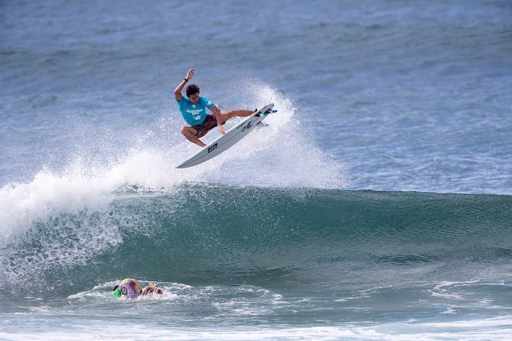 Evan Geiselman got eliminated today at the Hawaiian Pro.   © WSL / Keoki