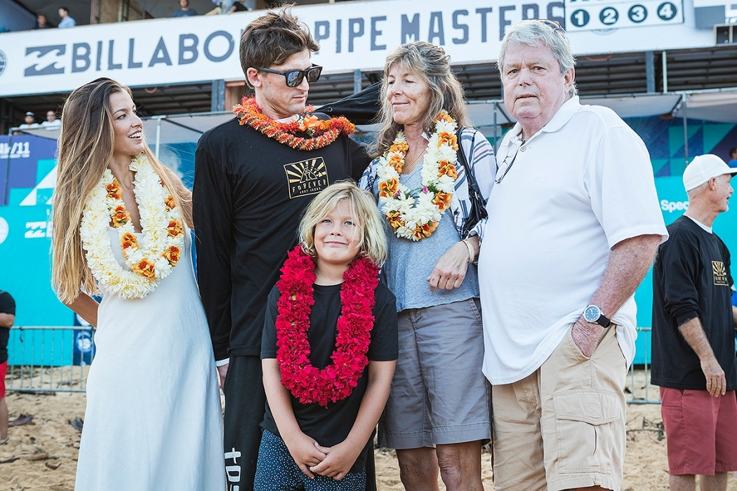 Billabong Pipe Masters opening ceremony.   © WSL / Cestari