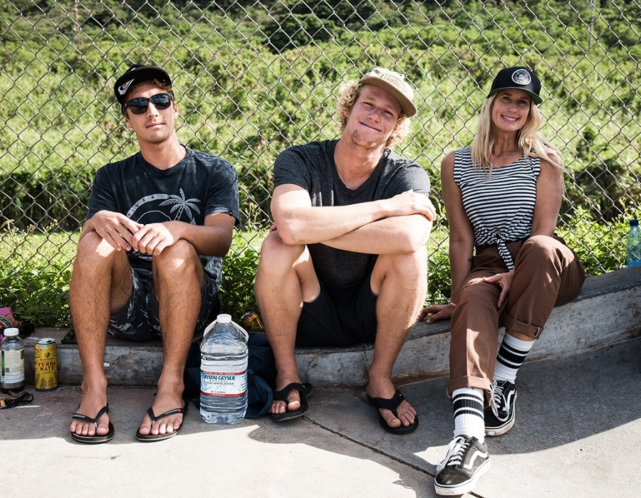 Koa Rothman, John John and Alex Florence.   © Jimmy Wilson
