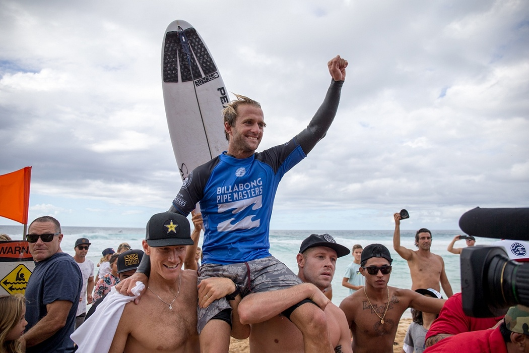 Josh Kerr surfed his last CT heat today.   © WSL / Heff