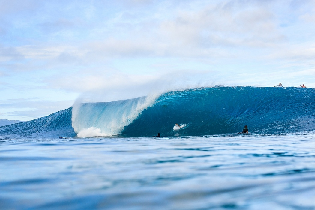 There were a few nuggets to be found on the first morning hours.   © WSL / Poullenot