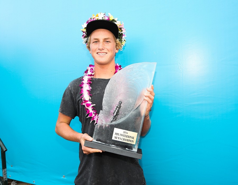 Pipe Invitational Champion Finn McGill.   © WSL / Cestari
