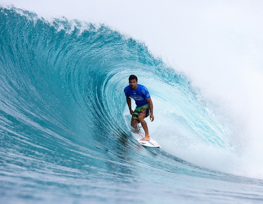 Billabong Pipe Master Champion Michel Bourez.   © WSL / Heff