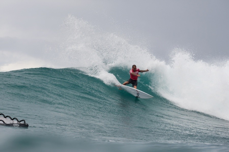 Raoni Monteiro (BRA) placed 3rd in the final of the VANS World Cup of Surfing.   © ASP / Cestari