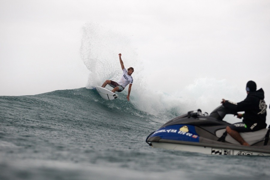 Frederico Morais (PRT) placed 4th in the final and earns the title of 2013 VANS Triple Crown Rookie of the Year.   © ASP / Cestari