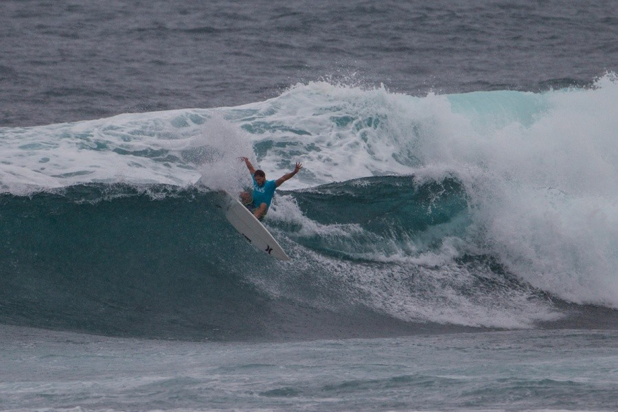 Alejo Muniz posted a near perfect 9 to advance into the quarterfinals.   © ASP / Kirstin
