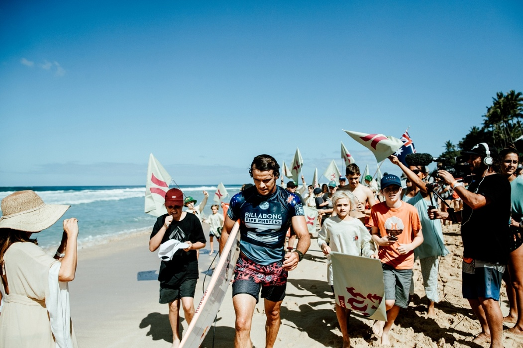 2018 Billabong Pipe Masters runner up Julian Wilson.   © WSL / Sloane