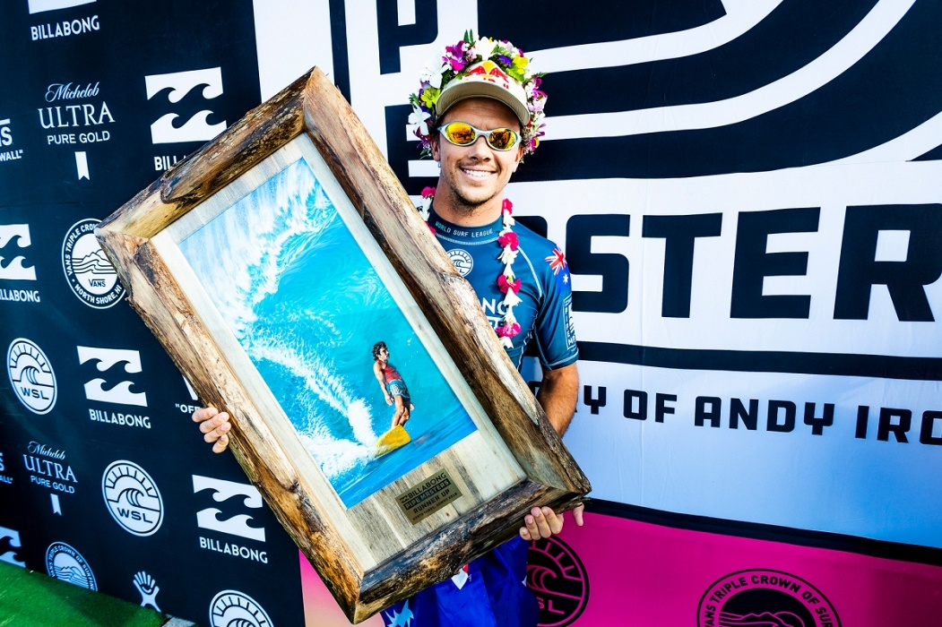2018 Billabong Pipe Masters runner up Julian Wilson.   © WSL / Cestari