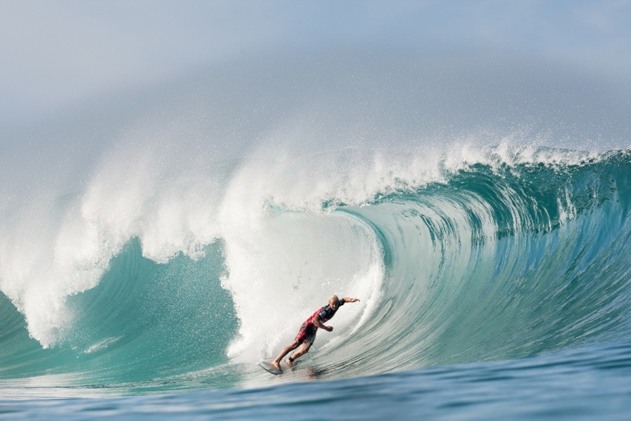 2013 ASP Rookie of the Year Nat Young (USA) placed second in his Round 5 heat.   © ASP / Cestari